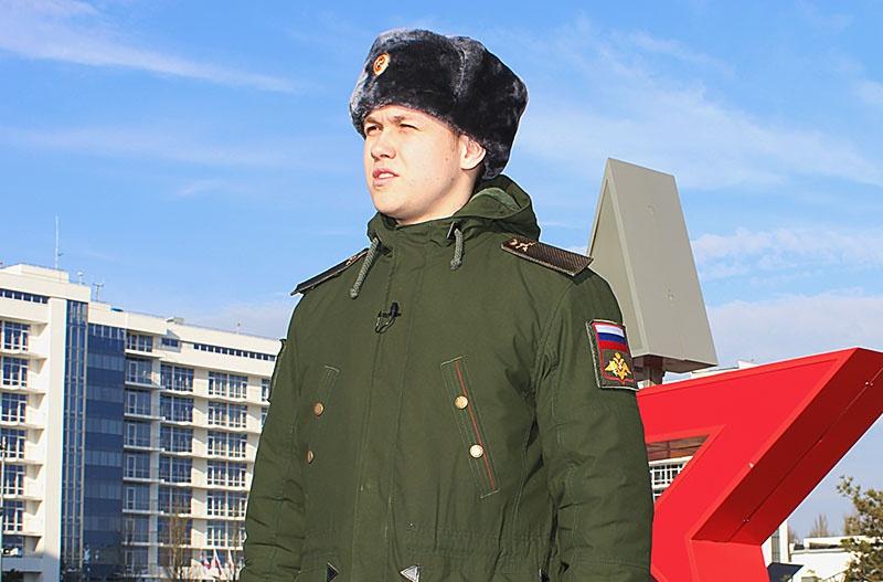 Рядовой Егор Кривенко.