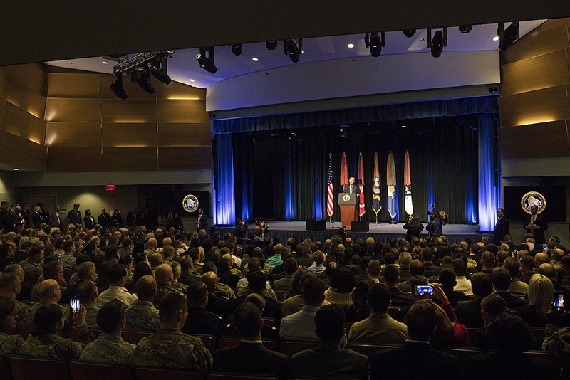 «Мир меняется, но мы будем меняться еще быстрее», - сказал Дональд Трамп в Пентагоне и не предложил ничего нового.