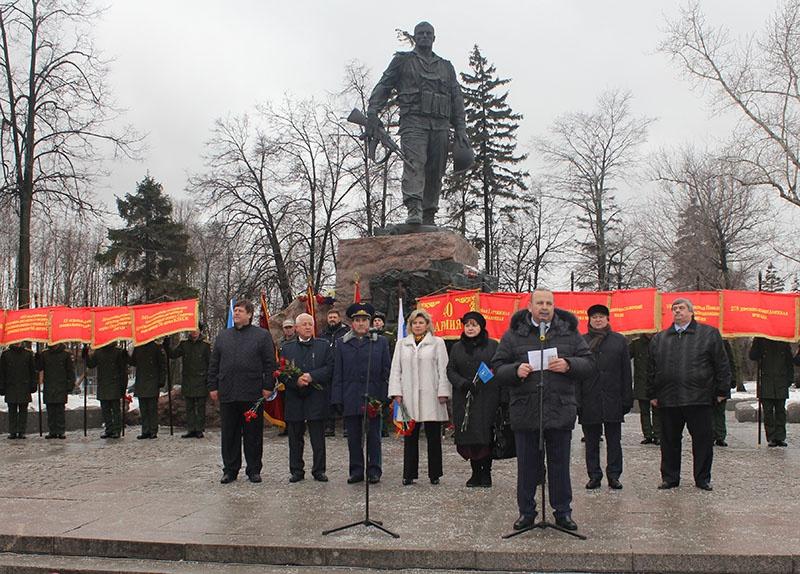 Митинг у памятника воинам -интернационалистам.