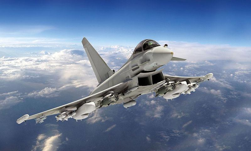 Истребитель Eurofighter Typhoon.