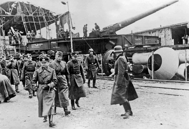 280-мм железнодорожное орудие Krupp К5.