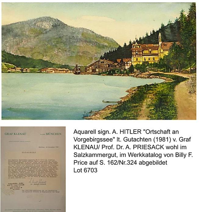 Одна из акварелей Гитлера так и не проданных на аукционе.