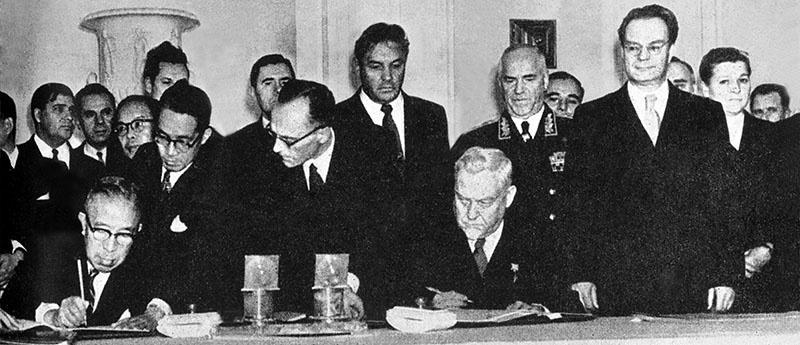 Советско-японская декларация 1956 года подписана 19 октября 1956 года в Москве председателем Совета министров СССР Николаем Булганиным и премьер-министром Японии Итиро Хатоямой.