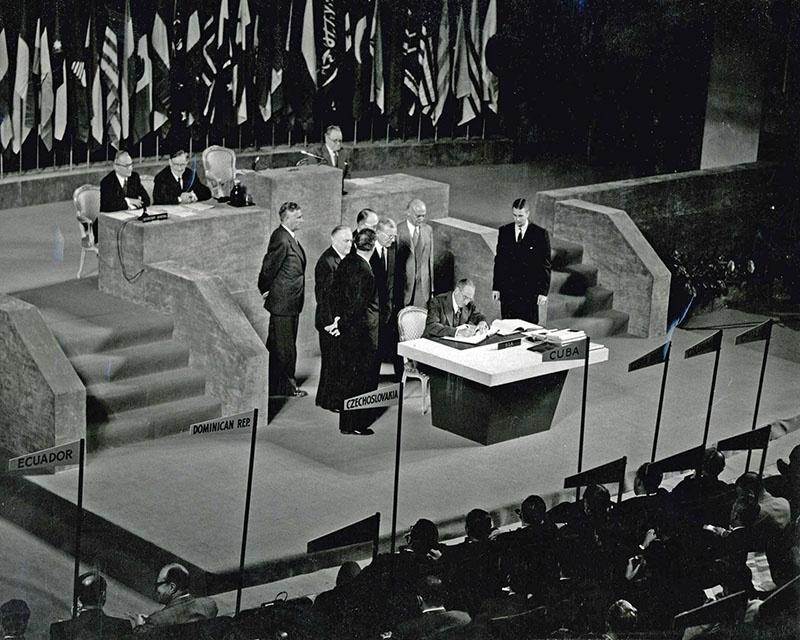Сан-Францисский мирный договор, подписанный в 1951 году.