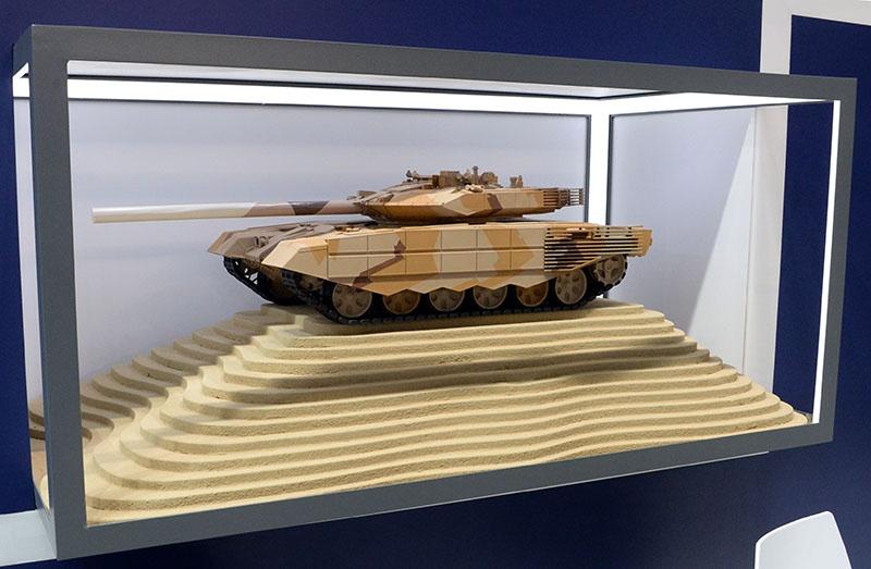 Макет российского танка Т-90МС.