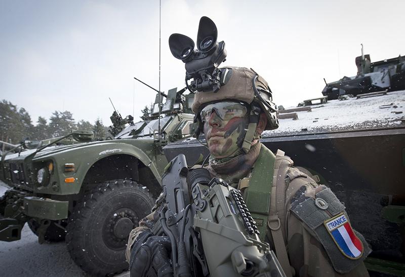 Французские солдаты в Эстонии.