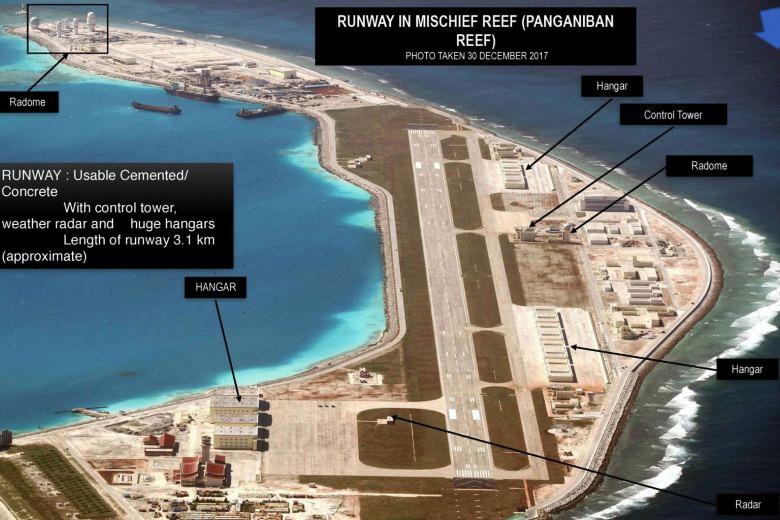 Как Китай превратил риф Мисчиф в свою базу.