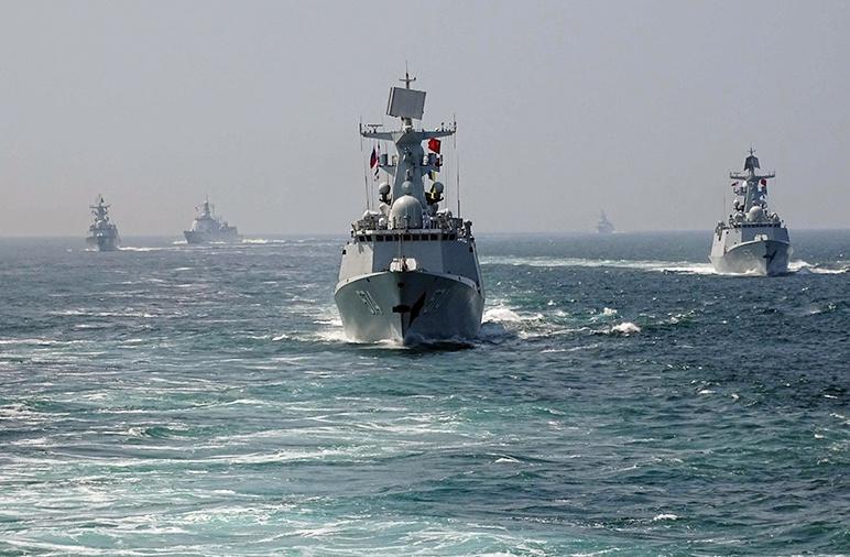 Учения РФ и КНР «Морское взаимодействие-2016» в Южно-Китайском море.