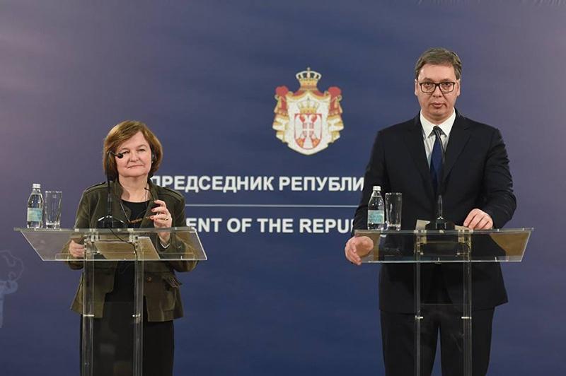 Министр по европейским делам Франции Натали Луазо рассказала о процессах евроинтеграции и перспективе вступления Сербии в Евросоюз.