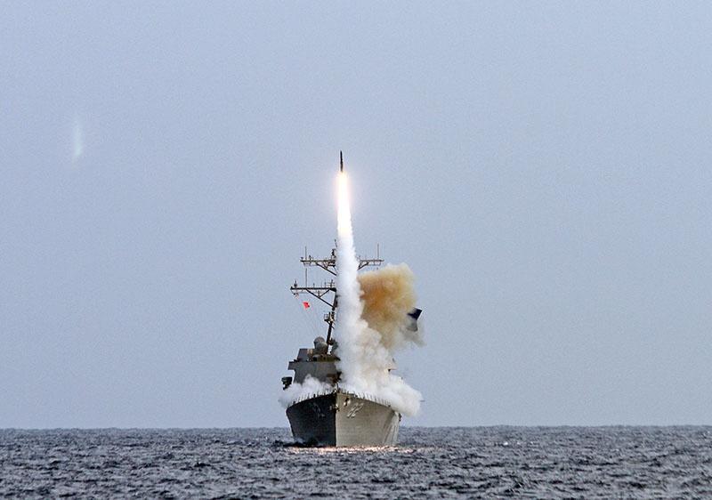 Испытания ВМС США в Тихом океане средств ПРО.