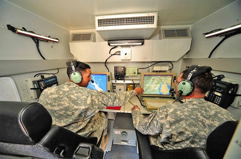 Радиолокационная станция X-Band, являющаяся частью THAAD.