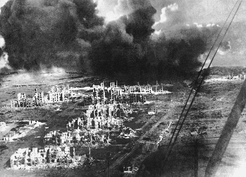 Сталинград горел...