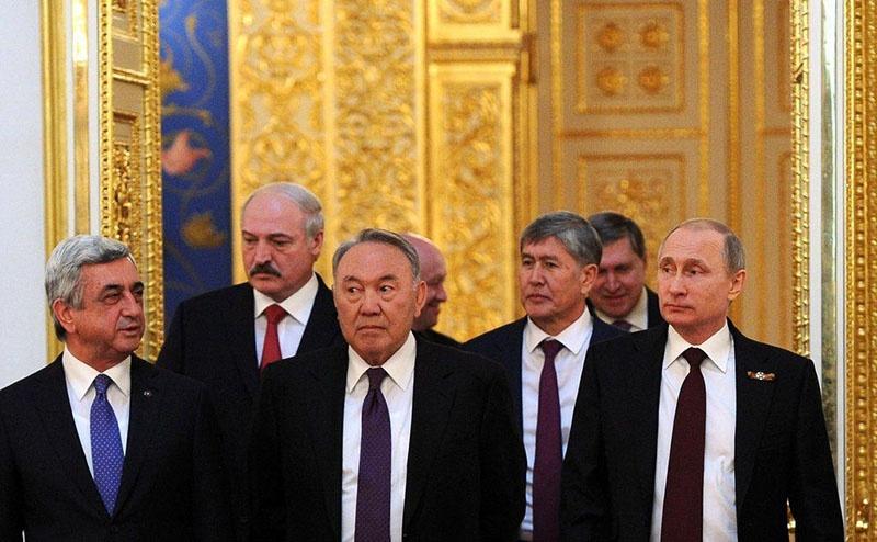 Встреча лидеров стран ЕАЭС в Москве.
