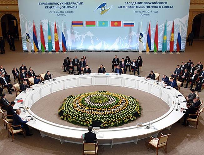 Заседание Евразийского межправительственного совета в Астане.