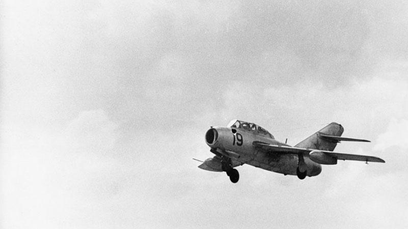 Советский истребитель МиГ-15.