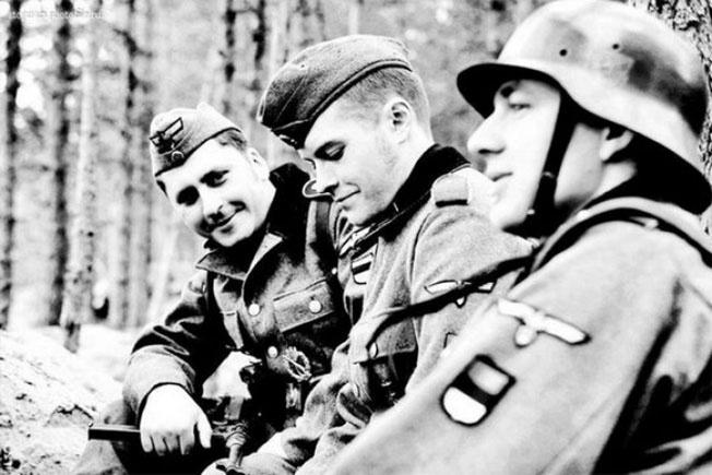 Эстонские легионеры на службе у Третьего рейха.