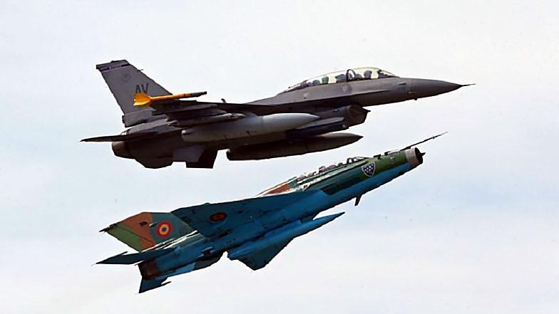 МиГ-21 и F-16.