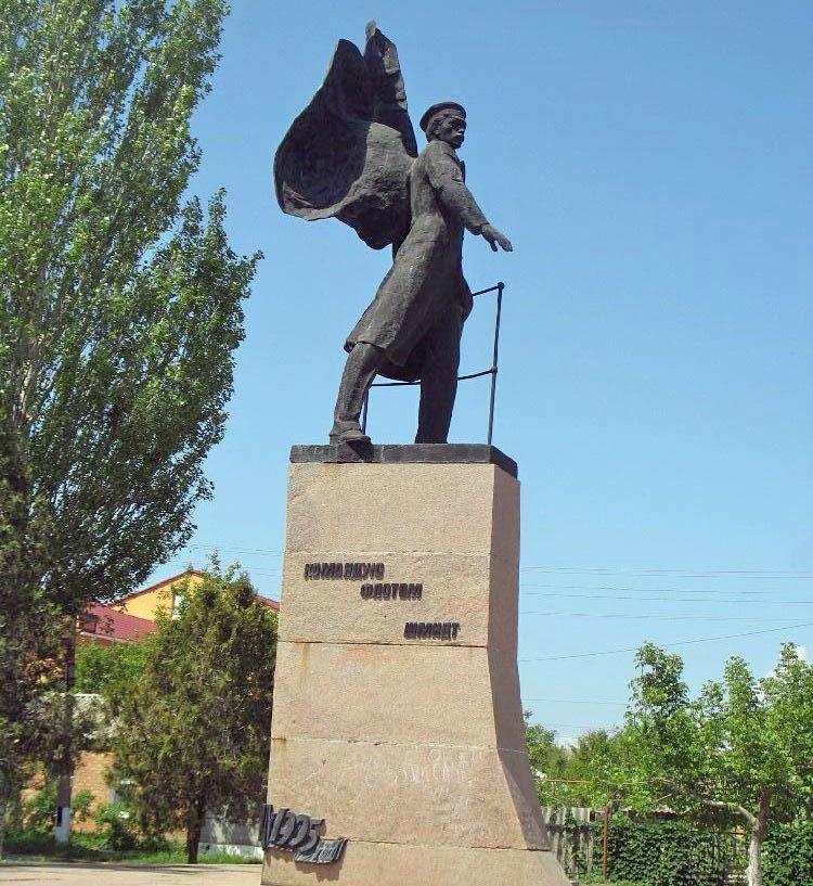 Памятник лейтенанту Шмидту в городе Очаков.
