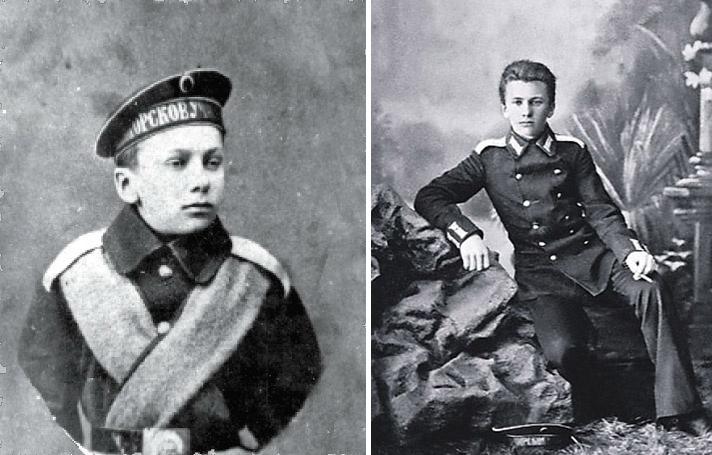 Петя Шмидт - курсант Петербургского морского корпуса.