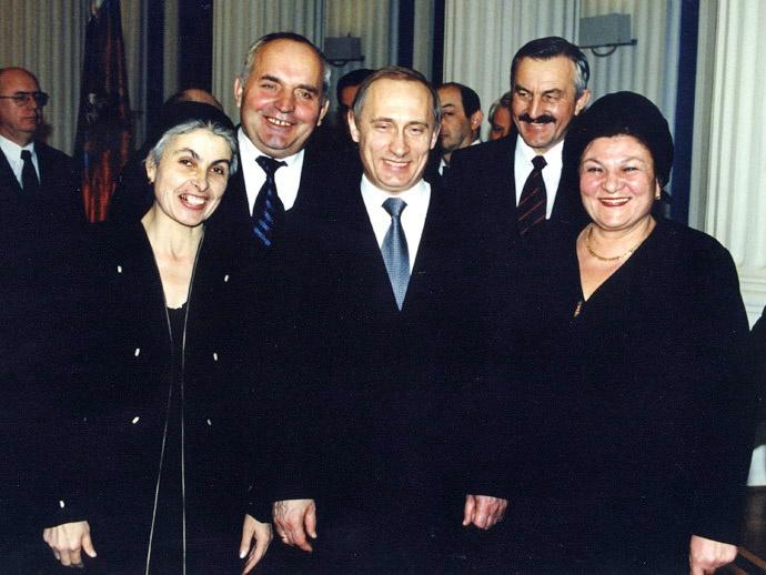 В.В. Путин, Н.П. Кошман, лучшие главы администраций районов Чечни.