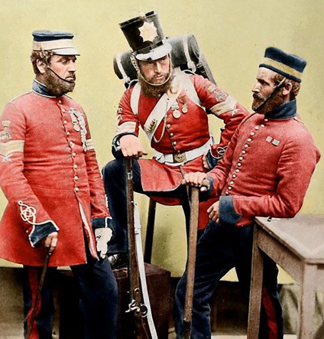 «Рэдкоты» – английские солдаты, прозванные так за ярко-красные мундиры.