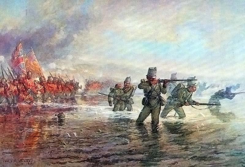 Луи Джонс. 2-й стрелковая бригада форсируют Альму.