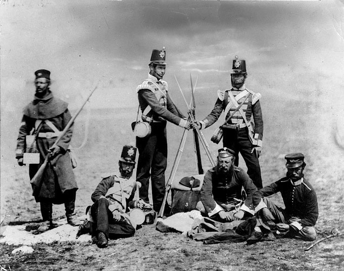 Британские пехотинцы в Крыму.