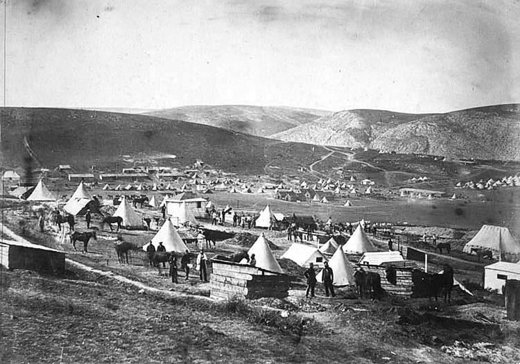Лагерь британских войск в Крыму.