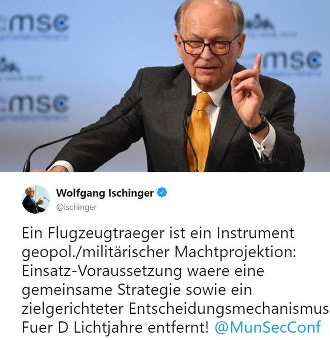 Глава Мюнхенской конференции по безопасности Вольфганг Ишингер.