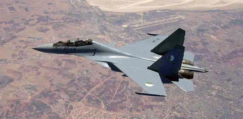 Истребитель Су-30МКА алжирских ВВС.