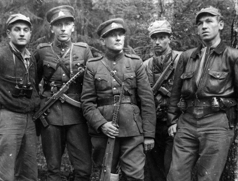 Литовские «лесные братья» среди которых попадались и немцы и поляки.