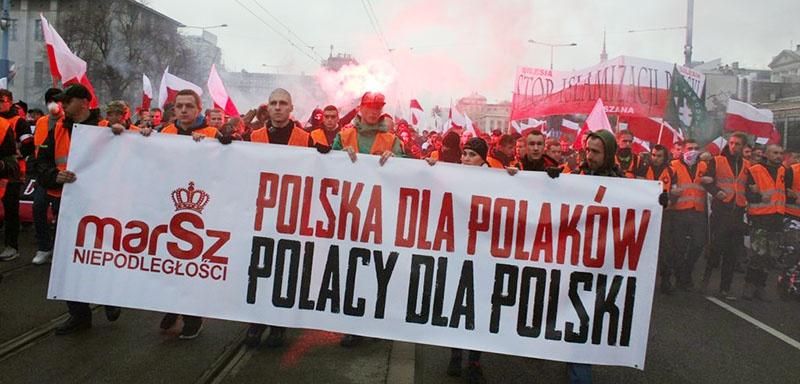 Протесты в Польше против мигрантов.