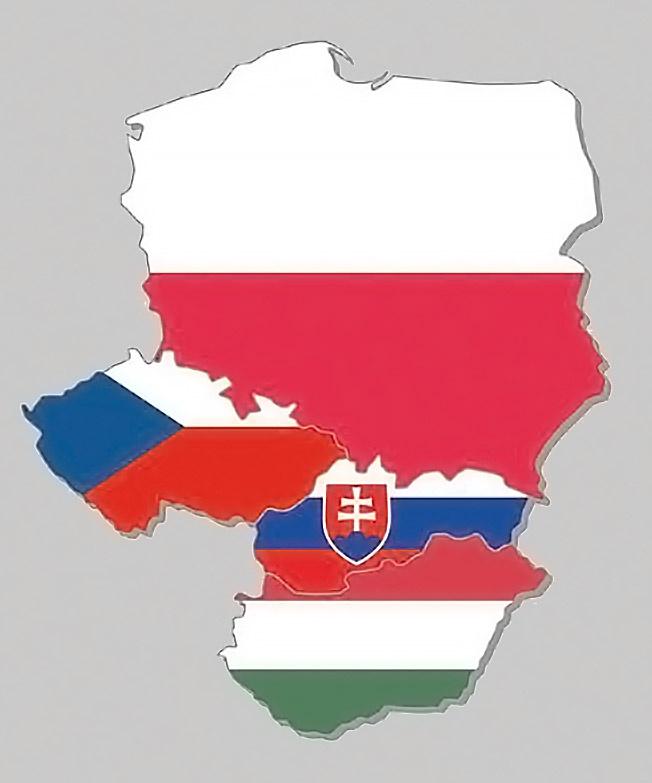 «Вышеградская группа» - Объединение четырёх центрально-европейских государств: Польши, Чехии, Словакии и Венгрии.