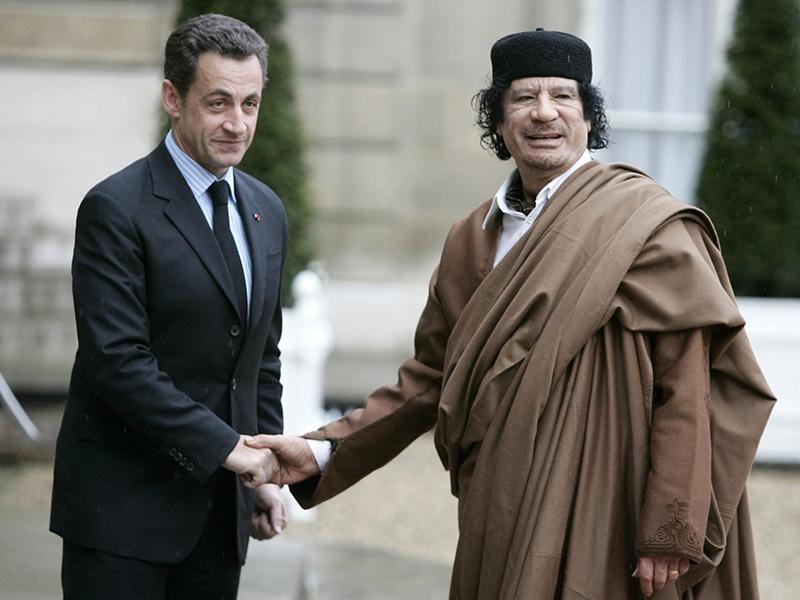 Президент Франции Николя Саркози забрал деньги и жизнь Муаммара Каддафи.