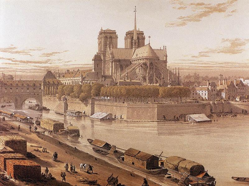 Нотр-Дам де Пари в 17 веке.