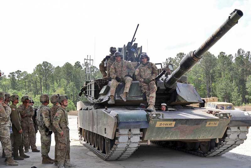 Американская бронетанковая бригада боевой группы в Польше.