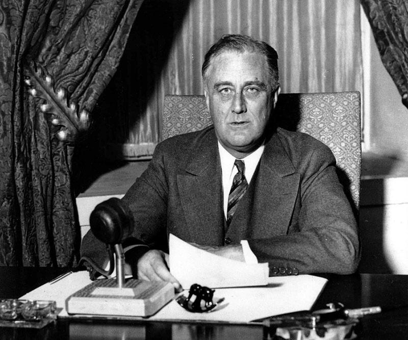 Президент США Франклин Рузвельт.