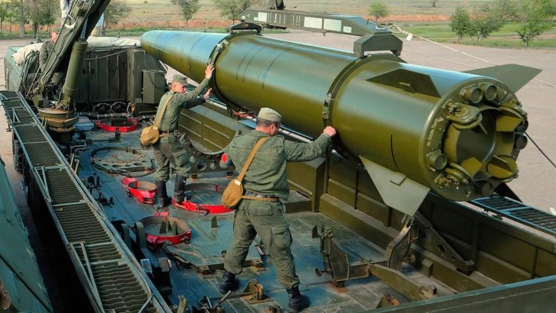 Ракета 9М723 оперативно-тактического ракетного комплекса «Искандер».