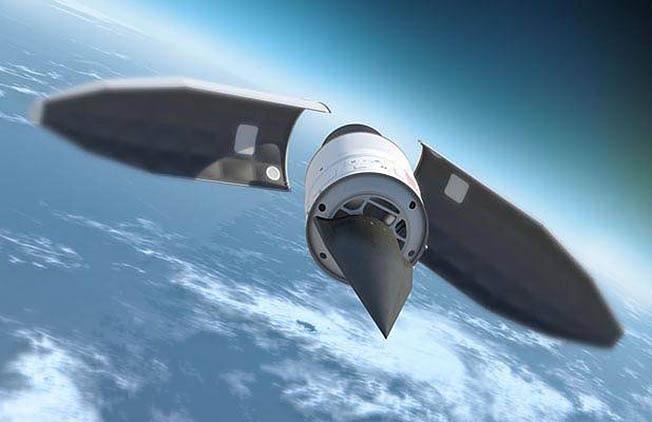 Старт гиперзвукового ЛА AHW с ракеты-носителя.