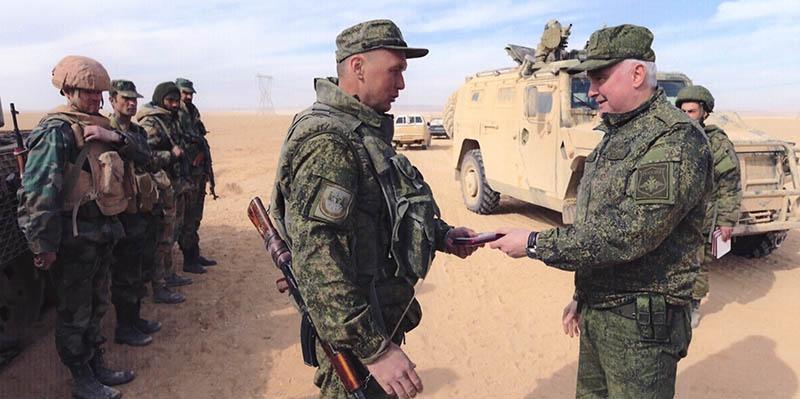 Генерал-полковник Андрей Картаполов в Сирийской Арабской Республике.