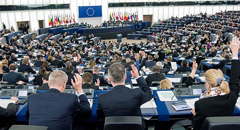 Голосование в Европейском парламенте.