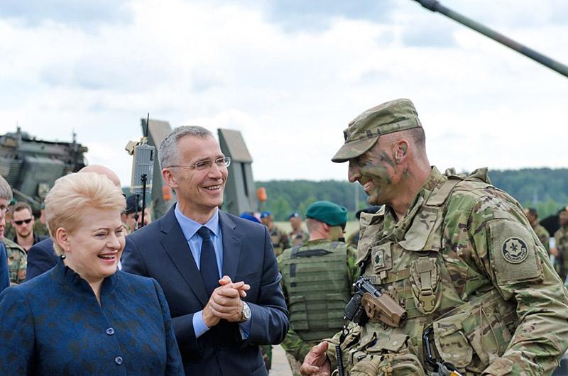 Даля Грибаускайте использовала все полученные знания и навыки советского пропагандиста, агитатора и организатора, чтобы заманить на свою территорию ударные части НАТО.