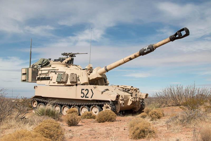 Американская САУ М109А7.