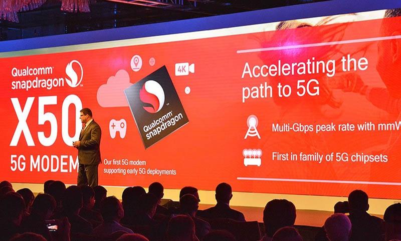 Презентация 5G модема Qualcomm Snapdragon X50.
