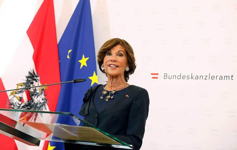 Временный канцлер Австрии Бригитте Бирляйн.