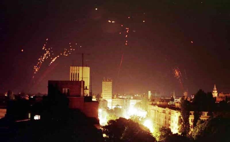 1999 год. Первые ракетно-бомбовые удары по Белграду.