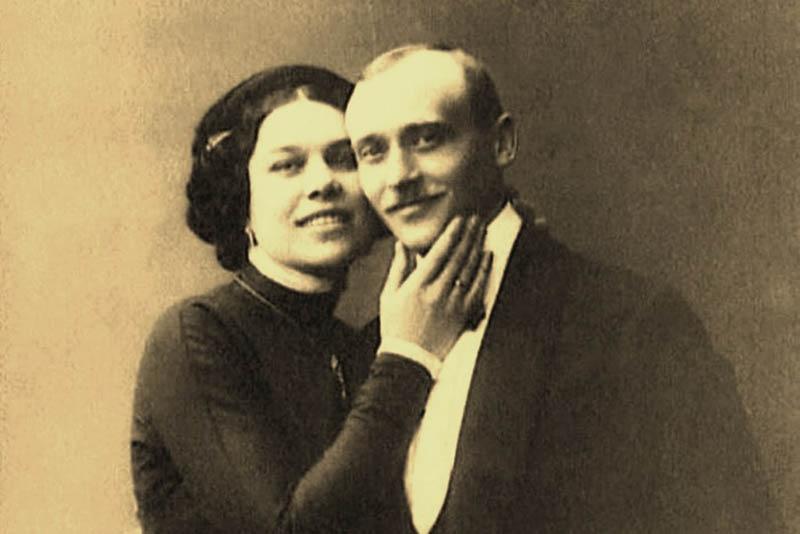 Генерал-майор Скоблин с женой Надеждой Васильевной Плевицкой.