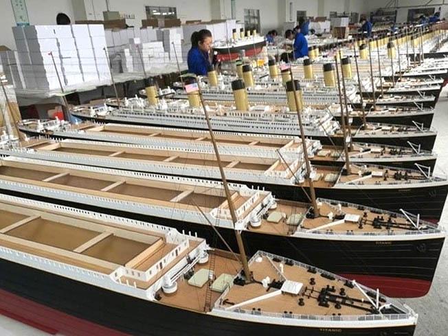 Предприятие «Graupner» по производству радиоуправляемых моделей кораблей в Китае.