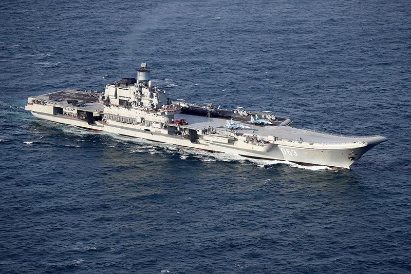 Российский авианосец «Адмирал Кузнецов».