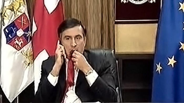 Экс- президент Грузии Михаил Саакашвили. 2008 год.